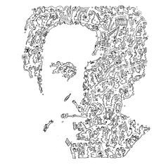 Bruce Springsteen Hand made Biographical drawing by PAGAZINE Bruce Springsteen, Biography, Fan Art, Paint, Rock, Portrait, Drawings, 2d, Handmade