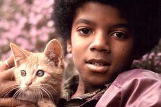 michael jackson and a cat, 1971. -conversadepub