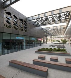 Image 4 of 39 from gallery of Asmacati Shopping Center / Tabanlioglu Architects. Photograph by Thomas Mayer Landscape Architecture, Landscape Design, Architecture Design, Retail Architecture, Urban Furniture, Street Furniture, Furniture Dolly, Furniture Ideas, Mall Design