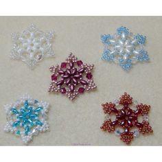 Snowflake 1 Beaded Ornament Pattern - West Texas Jewels