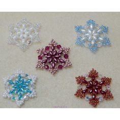 Snowflake 1 Beaded Ornament Pattern - West Texas Jewels