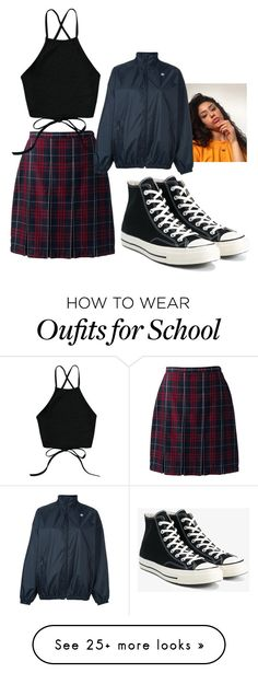 """""""Untitled #95"""" by lajuxe on Polyvore featuring Lands' End, Converse and adidas Originals"""
