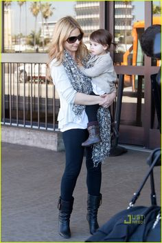 Sarah Michelle Gellar, so cute, and the baby is just a natural accessory
