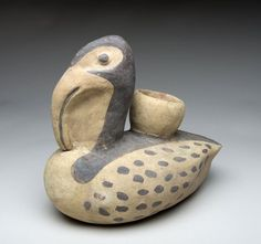 PreColumbian Pottery : Very Rare Chancay Pre-Columbian Pottery Pelican #338