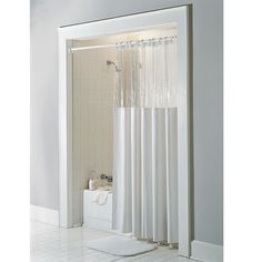 Hotel Shower Curtain With Clear Panel