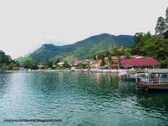 Lake Toba, North Sumatera, Indonesia. The biggest lake in Indonesia.
