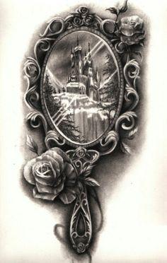 Mirror Tattoo Castle Rose Ink