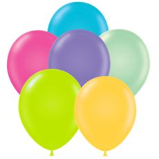 """17"""" Tropical Tuf Tex Latex Balloons - Assorted Colors"""