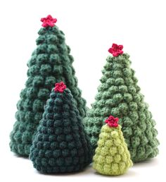According to Matt: Creative Christmas: DIY Crocheted Christmas Trees Crochet Tree, Crochet Christmas Trees, Christmas Tree Pattern, Christmas Crochet Patterns, Holiday Crochet, Crochet Crafts, Yarn Crafts, Christmas Tree Ornaments, Crochet Projects