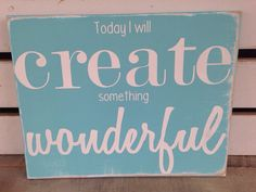 Today I will create something wonderful craft by scrapartbynina