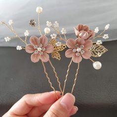FLOWER HAIR PINS Hair Pin Spring Headpiece Gift For Her Ivory Hairpiece Bridal Hair Pins Flower Hair Accessories Ballerina Hair piece