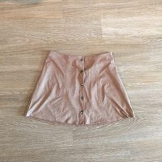 Kendal and Kylie Suede Skirt Button up closure. Brand new but I took off the tags and can't return :-( too big for me, but sooooo cute Kendall & Kylie Skirts