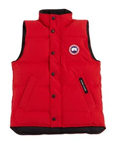 Youth Vanier Arctic-Tech Vest, Red, XS-XL by Canada Goose at Neiman Marcus.