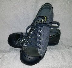 8b335fb6093c SOLD - Keen Denim Navy Blue Lace Up Athletic Sport Fashion Sneaker Shoes Sz  9.5