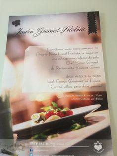 cliente: G. primavera convite jantar gourmet