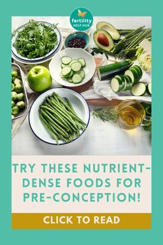 On Fertility Help Hub, we emphasize the importance of eating well whilst ttc - and have provided a list of nutrient dense foods for you to try! #fertility #infertility #nutrition #conception #natural #healthy #ttc #ttcjourney #ttccommunity