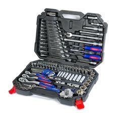 WORKPRO 123PC Tool Combination Torque Wrench Car Repair Tool Set Ratchet Socket Spanner Screwdriver Mechanics Tool Kits