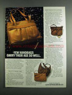 1984 Levi Strauss & Co. Handbag Ad - Carry Their Age