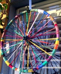 A personal favorite from my Etsy shop https://www.etsy.com/listing/249397288/sale-up-cycled-wheel-yarn-colorful-for