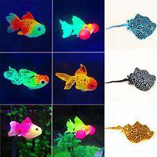 Artificial Plastic Glowing Goldfish Mobula Aquarium Decor Fish Tank Ornament NEW