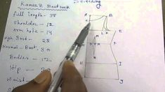 Kameez Drafting/Cutting and Stitching with formula part 1 of 7 hindi Frock Patterns, Gown Pattern, Dress Making Patterns, Jacket Pattern, Sewing Patterns, Sewing Lessons, Sewing Hacks, Sewing Tutorials, Pattern Drafting Tutorials