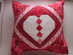Quilted Pillow Cover Sham 14-inch  Braided by MooseCarolQuilts