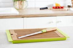 Deska do krojenia pieczywa z nożem FLORINA NATURAL w Garneczki - Wyposażenie Kuchni! na DaWanda.com