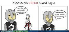 Assassin's Creed logic and haystacks