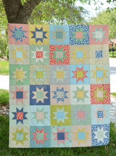 No Point Stars Quilt Tutorial
