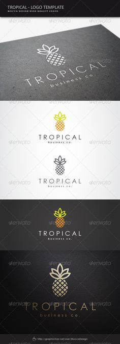 Tropical Logo - Food Logo Templates                                                                                                                                                     More