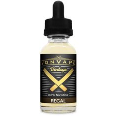 Von Vape Vintage Regal 15ml - Our classic Tobacco e-liquid is rich, smoky, full bodied and bold in flavor. We have focused on developing a Tobacco taste that makes it easy for decade long smokers to transition over to. With the mindset of keeping it simple so that you get exactly what you expect. Always a top seller, everyone loves natural, chemical free, clean Von Vape Tobacco e-liquid.70% VGShips from VON VAPE - Florida