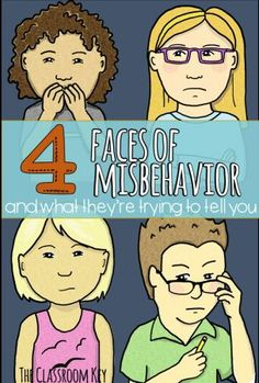The 4 Faces of Misbehavior and What They're Trying to Tell You, classroom management for elementary teachers
