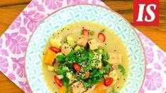 Mausteinen curry tekee ihmeistä kalakeitolle. Kokeile tehdä keitto vihreästä tai punaisesta thaicurrysta. Tacos, Mexican, Yummy Food, Meat, Chicken, Ethnic Recipes, Curry, Recipes, Curries