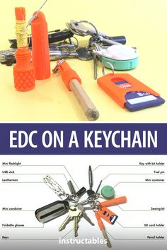 Put together a variety of everyday carry (EDC) items that can fit on your keychain from 3D printed or scrap parts. #Instructables #3Dprint #Fusion360 #tools #workshop