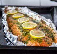 Fisk i folie med citron och dill Fish Recipes, Seafood Recipes, Cooking Recipes, Finger Food Appetizers, Appetizer Recipes, Food N, Food And Drink, Zeina, Fish Dinner