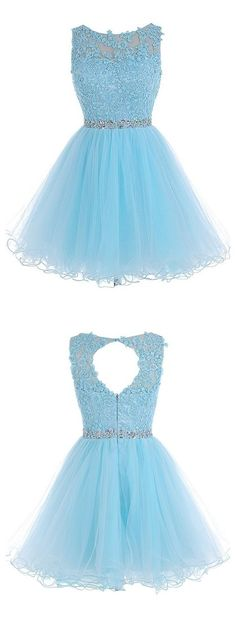Tulle Homecoming Dress,Lace Homecoming Dress,Blue Homecoming Dress,Fitted…                                                                                                                                                     More