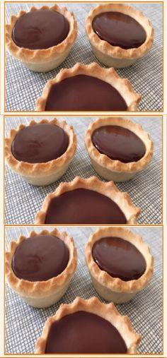 Tartaletas con ganache de chocolate #tartaletas