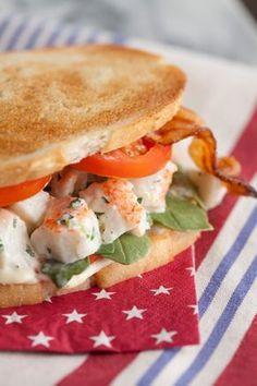 Paula Deen Lobster Club Sandwich