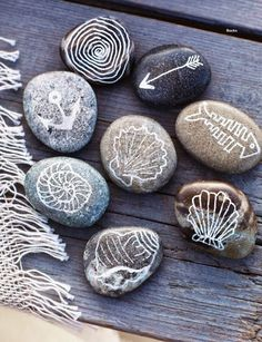 i am such in love with painted pebbles to decorate home...   in my area there is a lot of pebbles on the beach... so i used to paint them.....