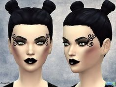 The Sims Resource: Darkside Makeup by Margeh_75 | Sims 4 Downloads | Scoop.it