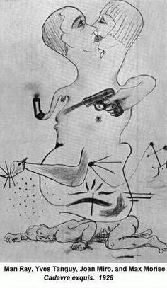 man ray yves tanguy joan miro max morise 1928 [web520]