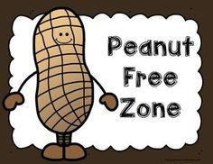 Freebie! Peanut Free Zone (allergy poster)