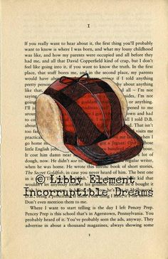 holden s red hunting hat symbolizes his personality and his own  the catcher in the rye holden caulfield s red hunting hat art print by incorruptibledreams on