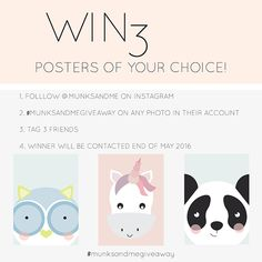 Giveaway launched! Win 3 Munks + me prints