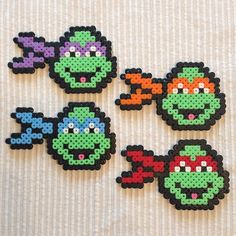TMNT perler ornaments. We have some buddies who would love these!!! ;)