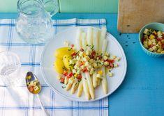 Spargel mit einer Käse-Salsa - Spargelsaison bis 24.6.