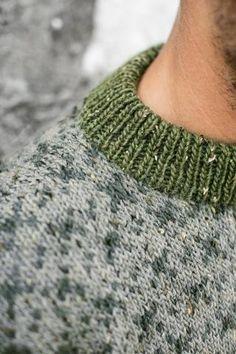 KLASSISK GENSER herre genseren HALSKANT: Slik ser halskanten på den klassiske genseren ut.