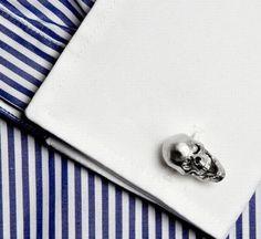 Ralph Lauren skull cuff-links