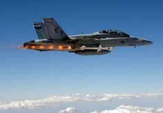 Boeing F/A18 Super Hornet launching Advanced Anti-Radiation Guided Missile (AARGM) during tests.