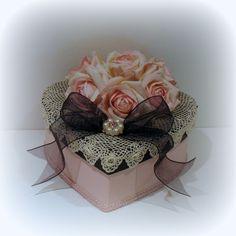 Decoración Shabby Chic, Shabby Chic, Shabby Chic caja, caja de regalo, caja de corazón, decoración Chic de París, Trinket Box, caja de la me...